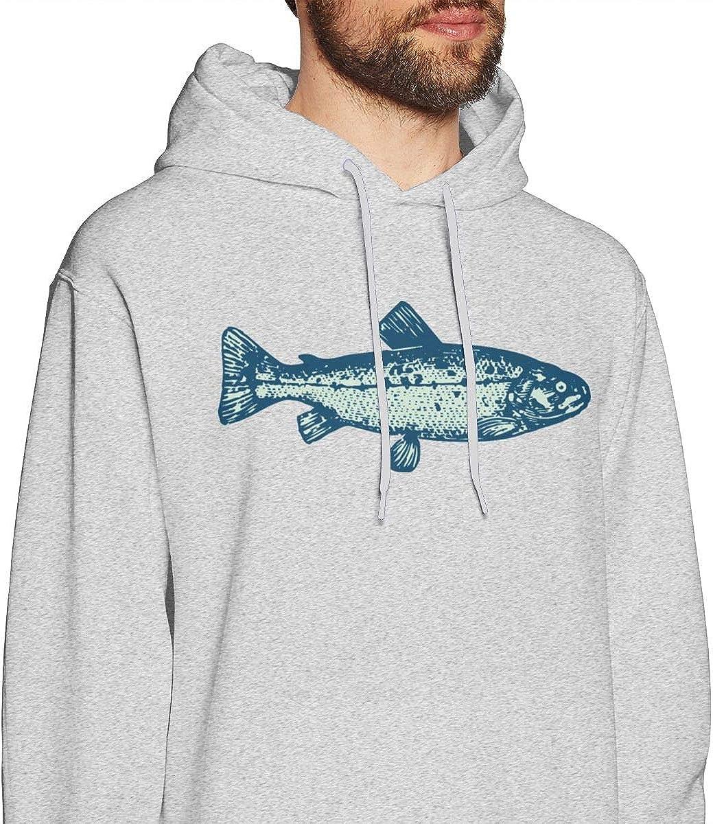 Green Bass Fish Hoodie Sweatshirt Funny Pullover Jacket Male
