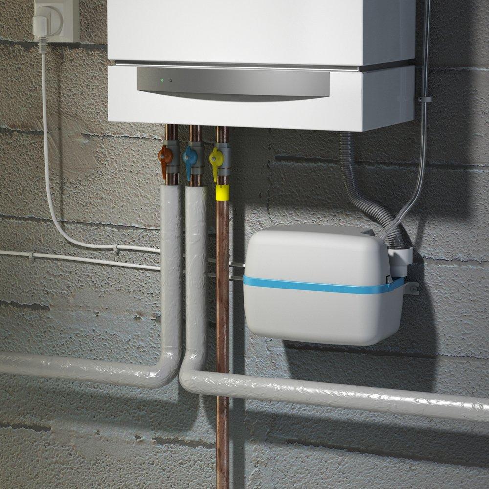 0046 SFA Kondensatpumpe SaniCondens PRO mit integrierter R/ückschlagklappe und /Überlaufsicherungsschalter Kondensathebeanlage f/ür Klimaanlage K/ühl- und Gefriertruhe