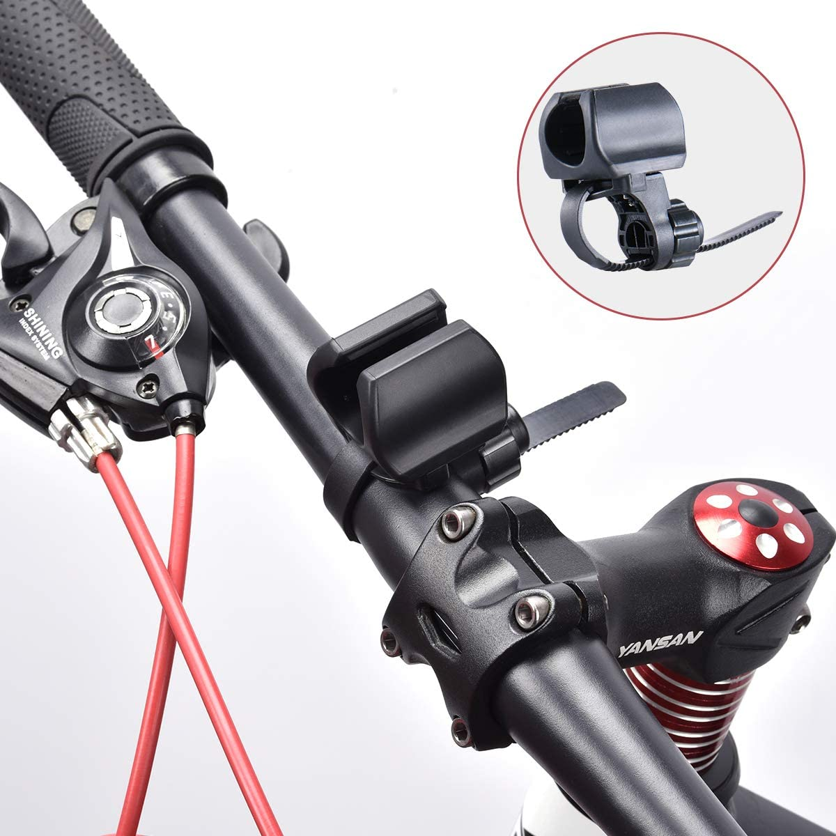 Bicycle Light Torch  Flashlight Bracket Bike Accessories For Go pro Mount/_*wu
