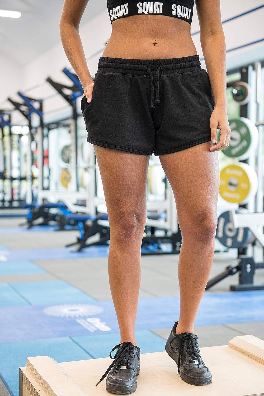 locker und luftig elastischer Bund Damen-Shorts Mivaro Damen Sporthose kurz