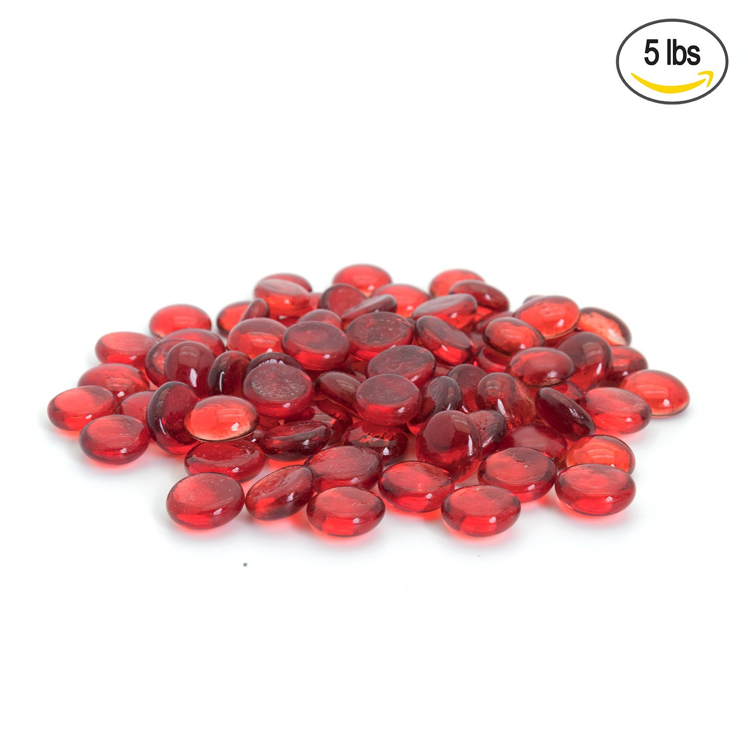 Amazon flat clear marbles pebbles 5 pound bag for vase red flat marbles pebbles glass gems for vase fillers party table scatter reviewsmspy