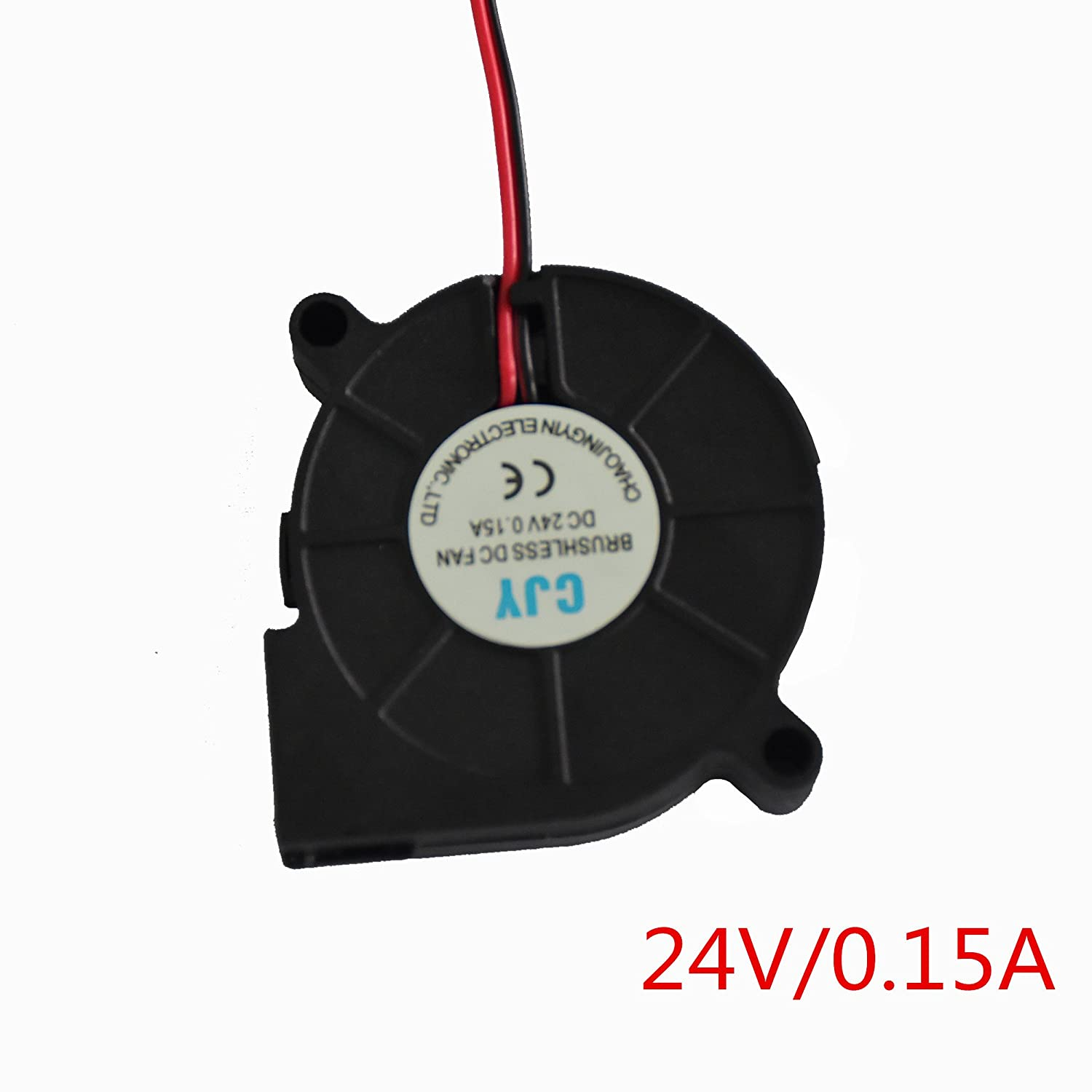 HICTOP DC 24V Connector Brushless Cooling Turbo Blower Fan 50x15mm Cooler 3D Printer Parts (2 Packs) HIC Technology 3DP AMZN- 10206