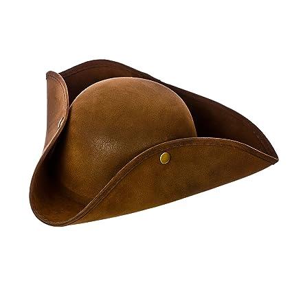 de0c147730c9a Amazon.com  Pirate Hat - Super Deluxe Brown Suede Fancy dress accessory   Home Improvement