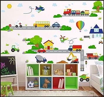 Véhicules Cars Planes Transport Enfants Stickers muraux enfants ...