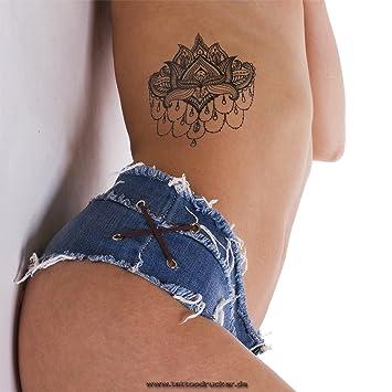 Amazoncom 2 X Mandala Lotus Flower Tattoo Indian Mandala