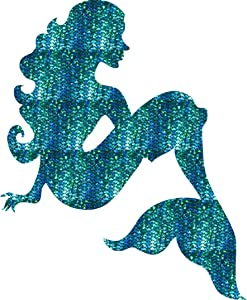 Mermaid Decal Sticker Premium Printed Vinyl (Not Holographic and no Glitter) Laptop car Window 4
