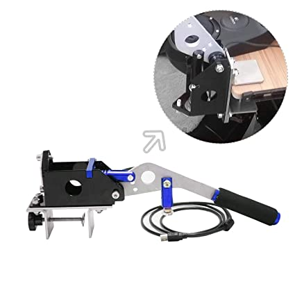 USB Handbrake + Clamp PC Windows for Sim Racing Games G25 G27 G29 T500  FANATECOSW Dirt Rally(Blue + Clamp)