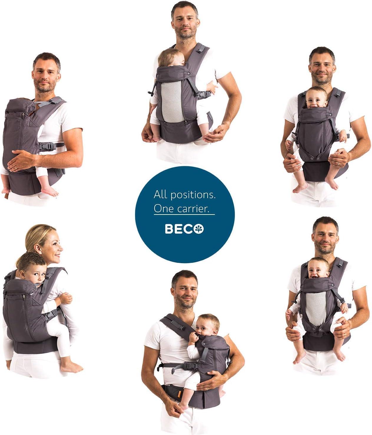 Mochila portabeb/és Beco 8 parte trasera ventilada, incluye accesorio para reci/én nacidos color gris oscuro