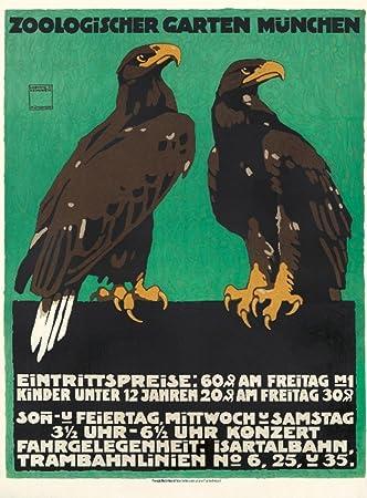 Vintage Garten amazon com zoologischer garten munchen vintage poster artist