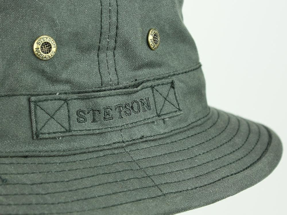 48a63db62 Stetson Men's Bucket Hat Anselmo waxed cotton - black: Amazon.co.uk ...
