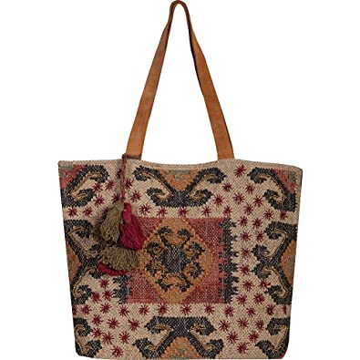 568174d83 Amazon.com: Scully Women's Lorena Tote Bag Brown/Tan Handbag: Shoes