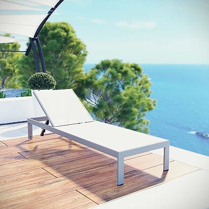 Excellent Amazon Com Classic Patio Aluminum Chaise With Breathable Beutiful Home Inspiration Truamahrainfo