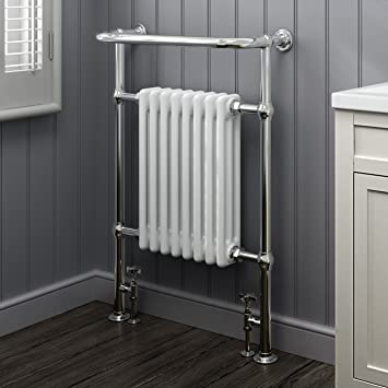 Ibathuk 8 Column Traditional Designer Heated Towel Rail Bathroom