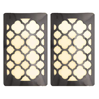 WESTEK Decorative Plug in Night Light by Amertac - LED Light Cover with Auto Dusk Dawn Sensor - Ideal for The Hallway, Bedroom, Bathroom, Warm Light - Hides Unused Outlet Plugs - Aged Bronze, 2 Pack