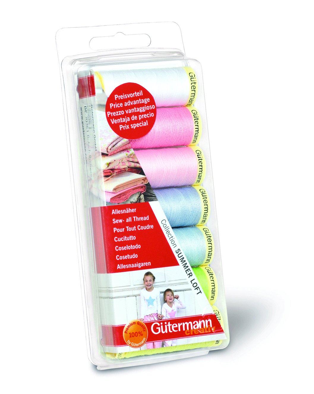 Gutermann 7 x 100 m 100 Percent Polyester Sew-All Thread Set, Summer Loft 731102\1