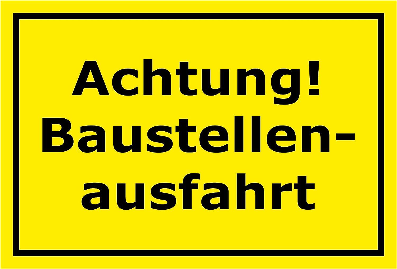 bohrlöcher Pegatinas de espuma rígida aluminio laminado 30x 20cm y 45x 30cm 15x 20cm Placa de aviso obras ausfahrt Aparcamiento aparcamientos Garage
