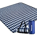 "BMHNOONE Outdoor Picnic Blanket, Extra Large Picnic Blanket 80""x80"" with Backpack for Family, Foldable Waterproof Picnic…"