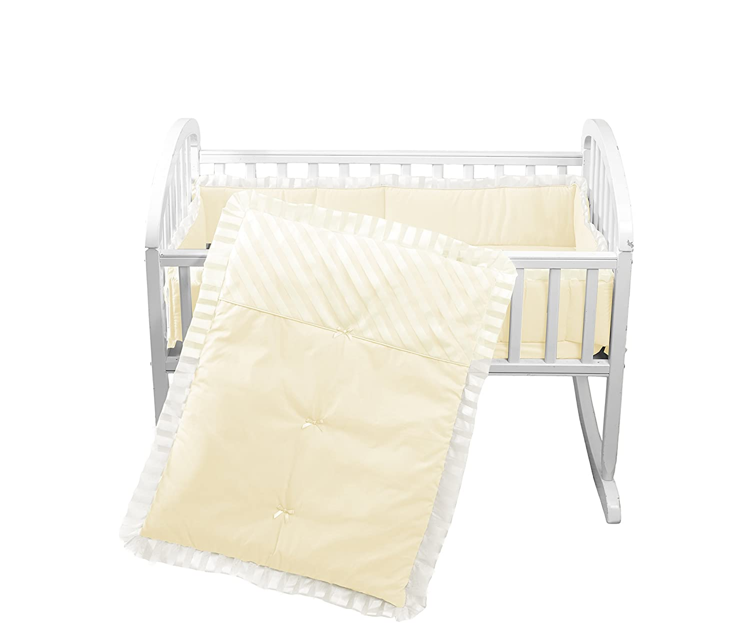 Baby Doll Candyland Cradle Bedding Set, White Baby Doll Bedding 1300cr36-white