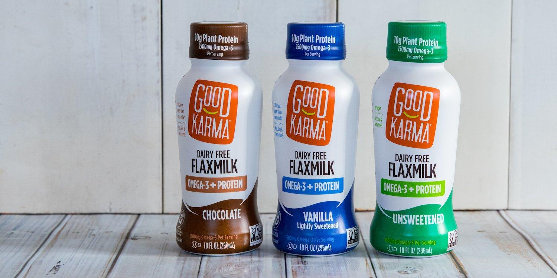 Good Karma Plant-Powered Flaxmilk, Chocolate, 10 oz Shelf-Stable Bottle (Pack of 12) Dairy-Free, Plant Based Milk Alternative by Good Karma