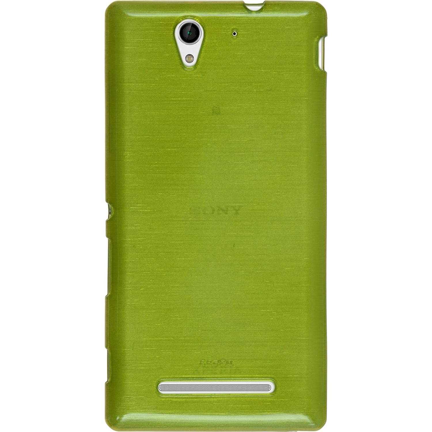 Amazon Silicone Case for Sony Xperia C3 brushed pastel green Cover PhoneNatic protective foils puters & Accessories