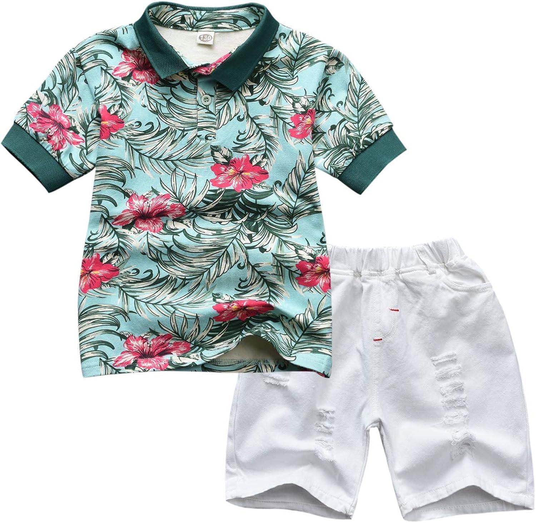 Baby Boys Animals Shirt Romper Suspender Shorts Gentleman Outfit Short Sleeves