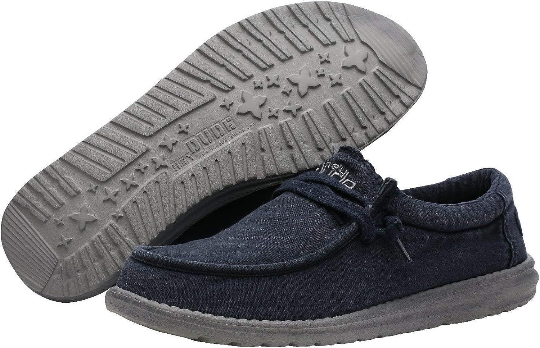 Dude Shoes La Brique De Wally Lavé De Hommes Bleu