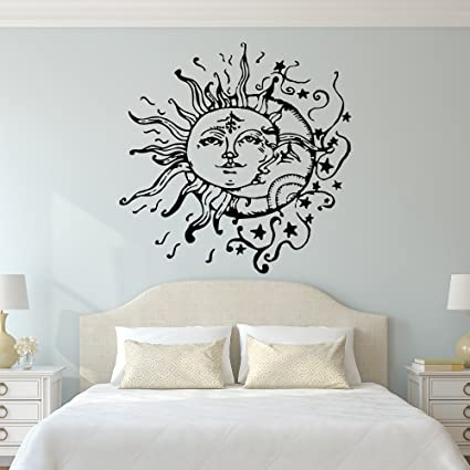 Sun And Moon Wall Decal- Sun Moon And Stars Wall Decals Ethnic Decor ...