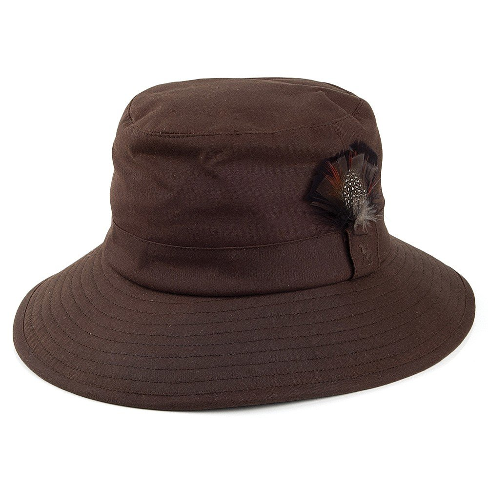 Joules Hats Helmsman Waxed Cotton Rain Hat - Brown Brown LARGE   Amazon.co.uk  Clothing deffc69afe5