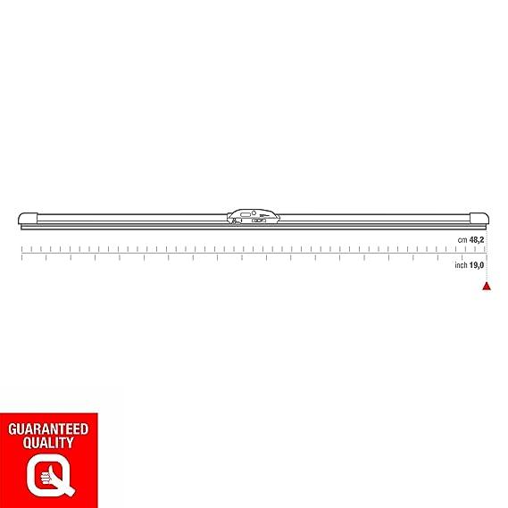 Open Parts ESCOBILLA LIMPIAPARABRISAS DELGADA PLANA 482mm 19inches ...