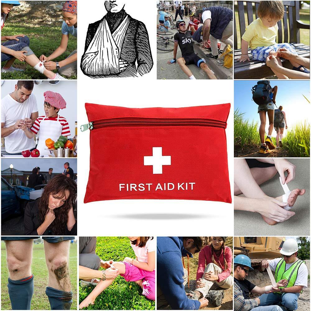 Ulmisfee Borsa di Pronto Soccorso Medico Kit di Primo Soccorso Campeggio Viaggio e Altre attivit/à allaperto casa Mini Borsa di Emergenza per Auto Picnic