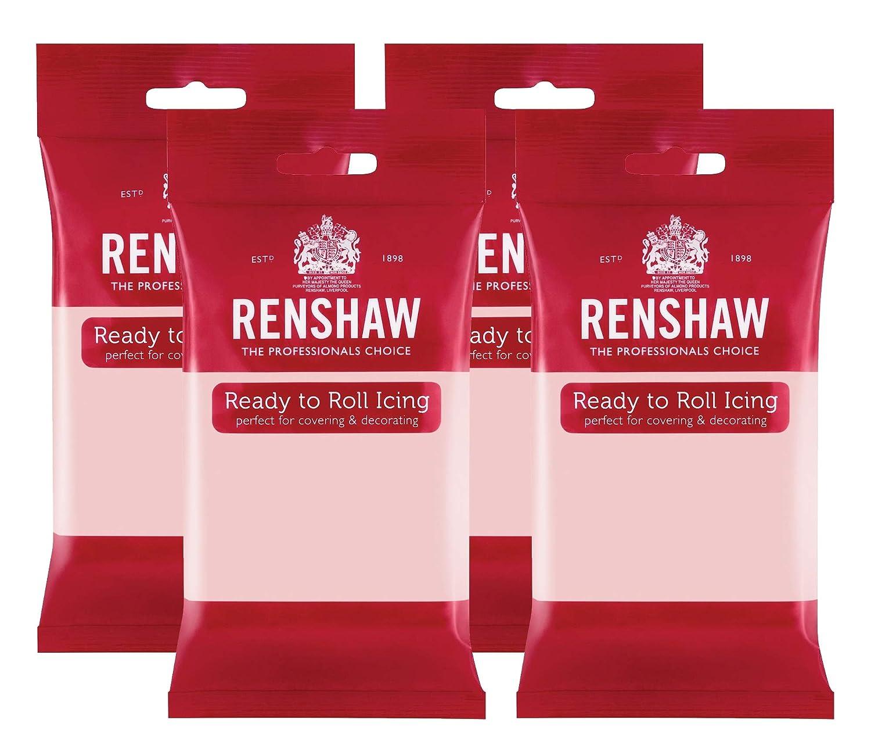 Renshaw Ready To Roll Icing Fondant Cake Craft Regalice Sugarpaste 250g Pink
