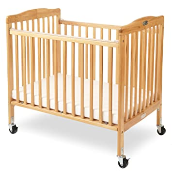 Charmant LA Baby The Little Wood Crib, Natural