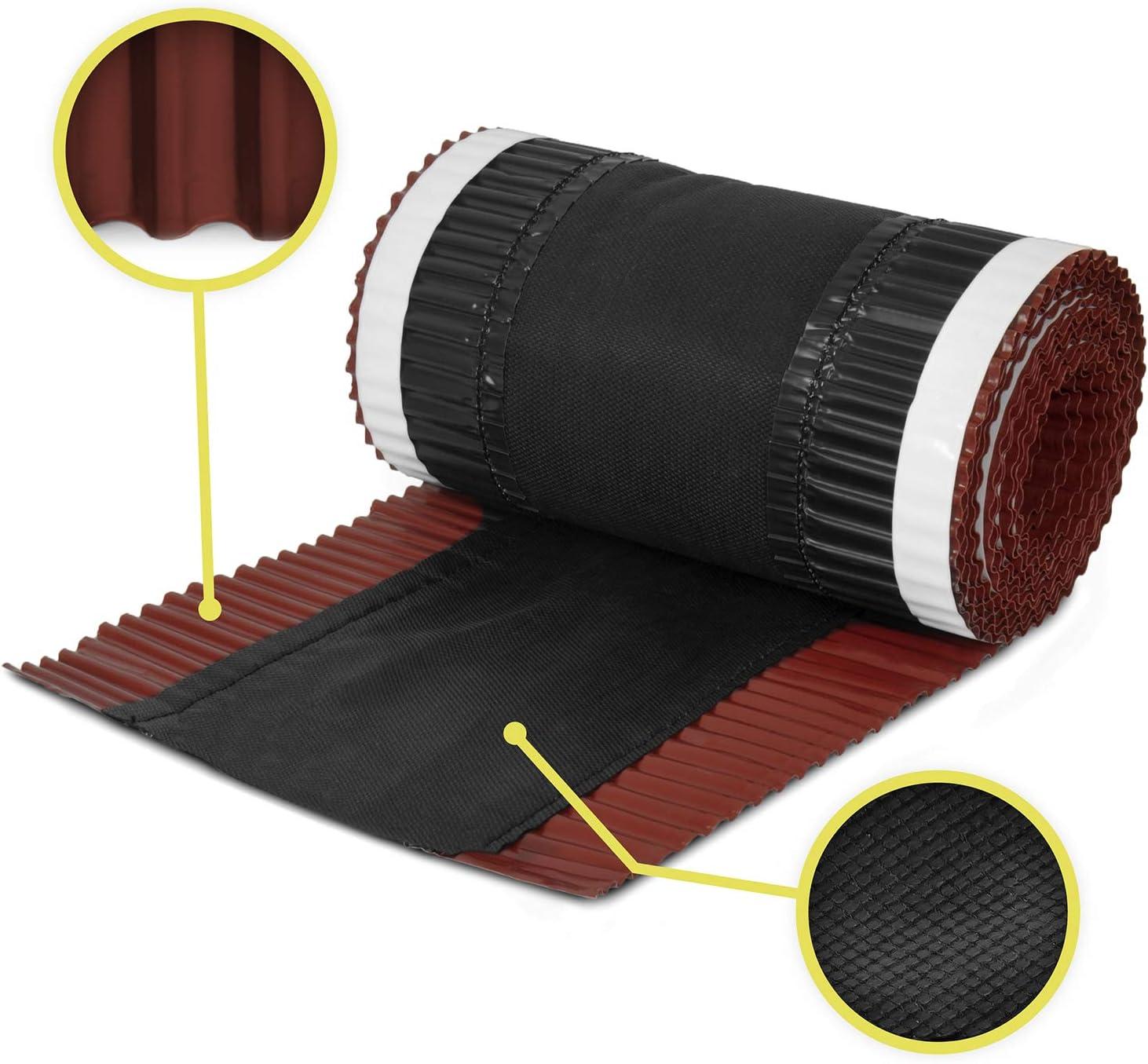 5m x 240mm Brun chocolat closoir ventil/é RAL 8017