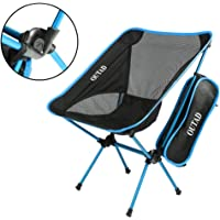 Drunkenfeel Chaise de Camping, Outad Chaise de Camping Pliant Léger et Portable pour extérieur, Randonnée, Pêche, Pique-Nique, Plage (Capacité de 149,7Kilogram)
