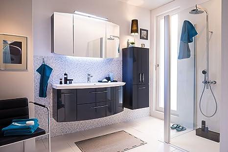 Pelipal Cassca 3 Tlg Badmobel Set Waschtisch Unterschrank Spiegelschrank Inkl Beleuchtung Amazon De Kuche Haushalt