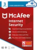 McAfee Internet Security 2021, 3 Device, Antivirus Software, Password Protection, 1 Year - Download Code