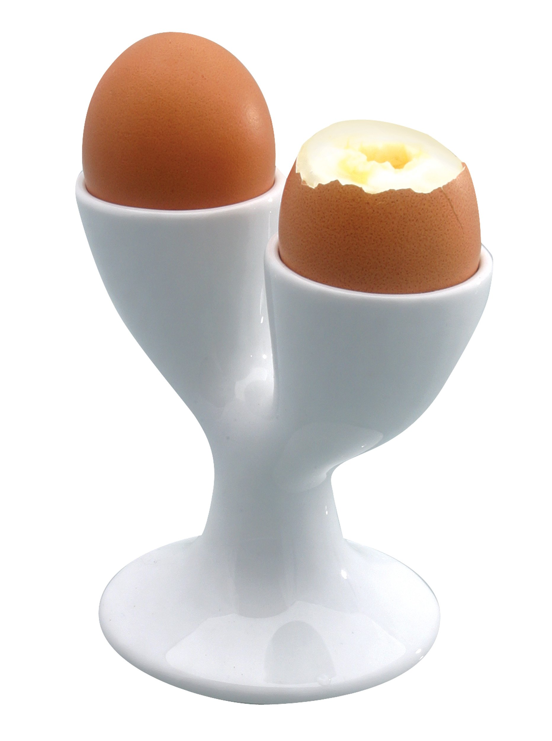 KitchenCraft White Porcelain Double Egg Cup