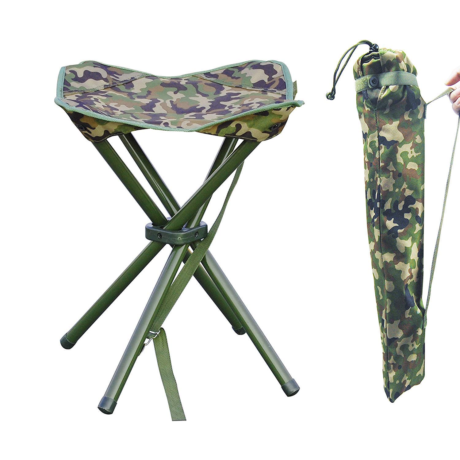 AGOOL Portable Folding Stool Outdoor Square Slack Chair Lightweight Heavy Duty for Camping Mountaineering Hiking Travel House-Using Recreation by AGOOL