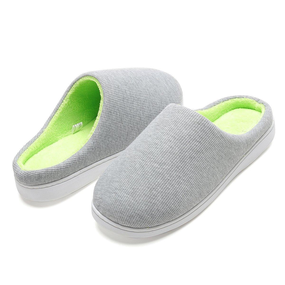 Comfort Memory Foam Breathable Slippers for Men for House Bedroom Living Room