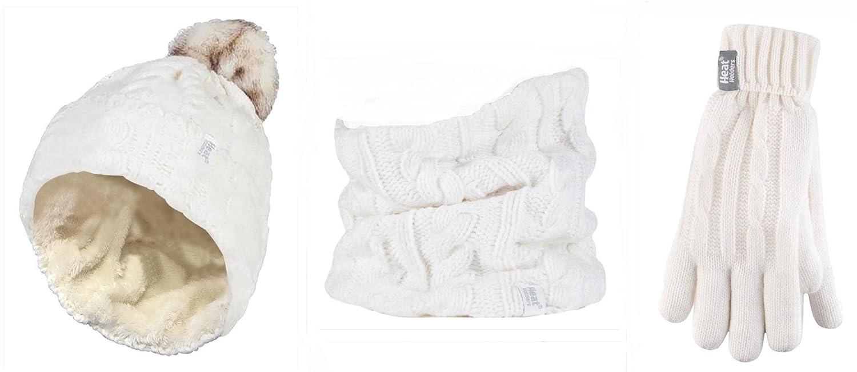 5f1fc11ddca0 HEAT HOLDERS - Ensemble bonnet, écharpe et gants - Femme cadeaux de Noël