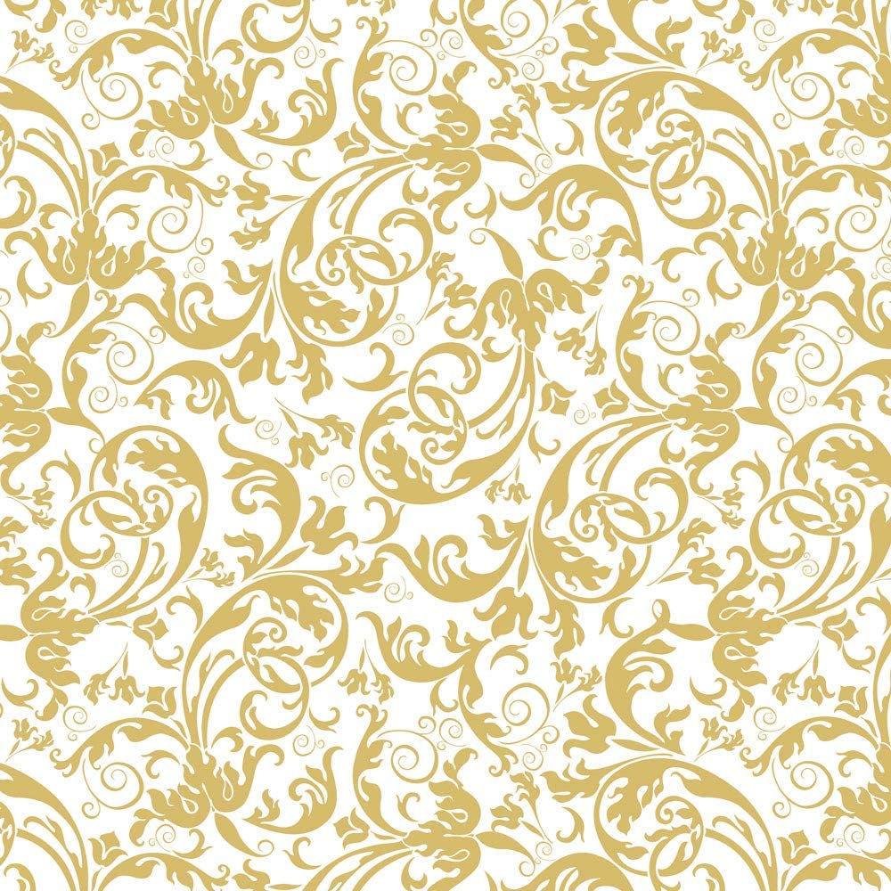 White And Gold Pattern Vector Image By C