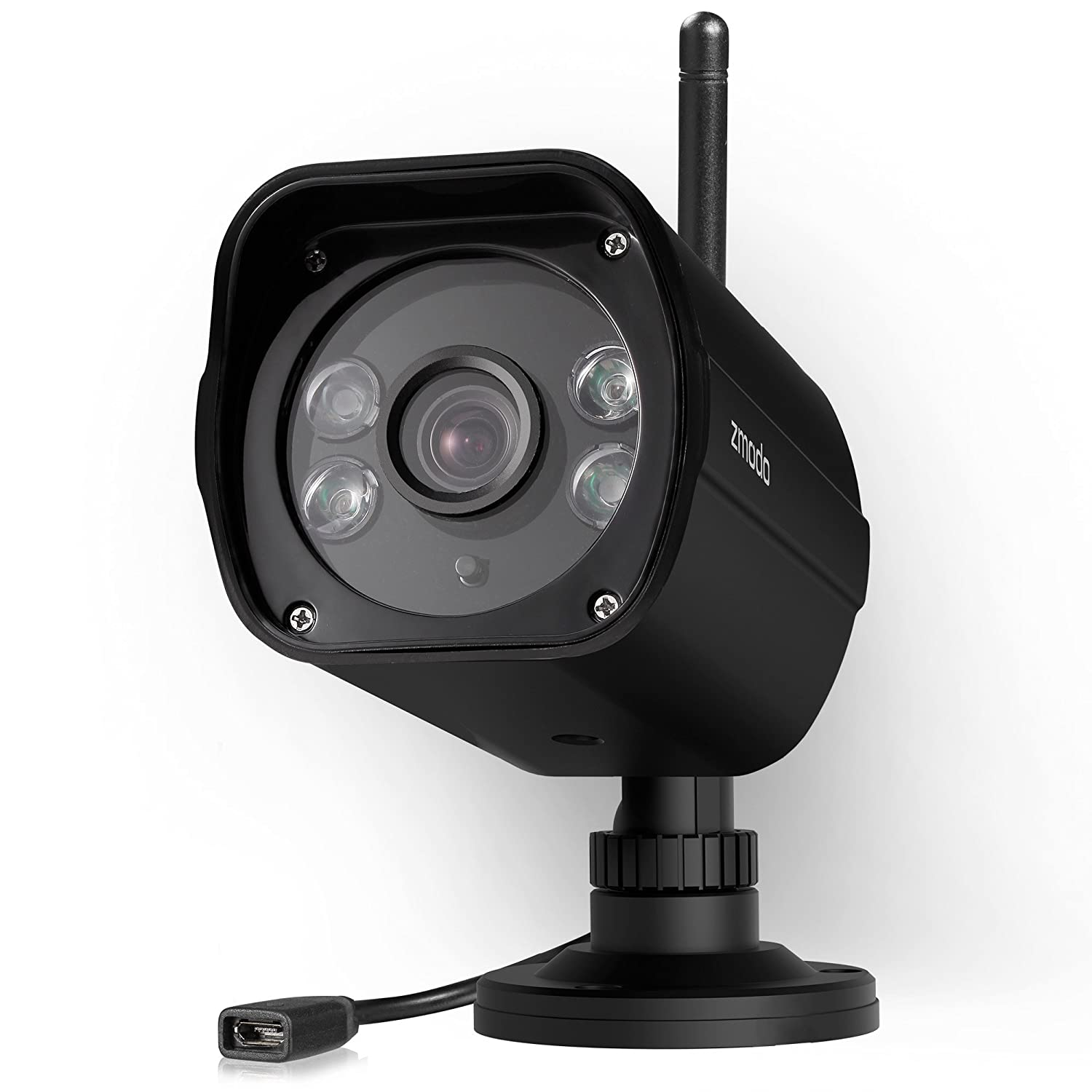 Zmodo 1080p Full HD Wireless Security Camera System, Dual Band 5GHz/2 4GHz,  98ft Night Vision, 96° Wide Viewing Angle - Works with Alexa
