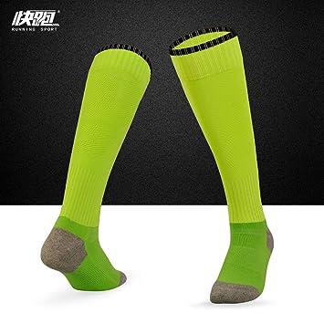 ... Calcetines Gruesos Medias Sobre la Rodilla Juego Calcetines de fútbol Antideslizantes, Adultos Fluorescentes Verdes: Amazon.es: Deportes y aire libre