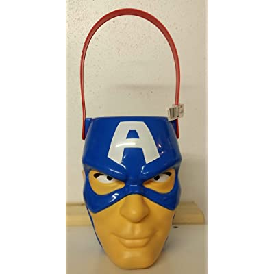 14 Inch Captain America Heavy Duty Plastic Bucket​: Toys & Games