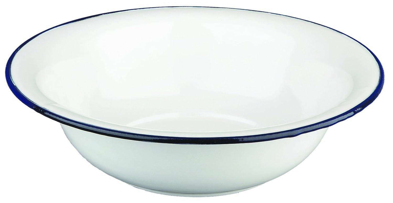 Ibili 903132 - Palangana de acero esmaltado vitrificado 32 cm Blanca