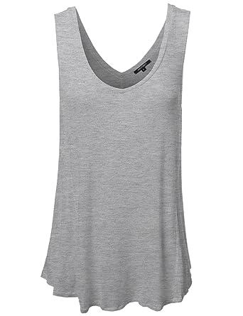 17da914ec87436 Plus4u Women s Basic Solid Sleeveless Plus Size Tank Top at Amazon ...
