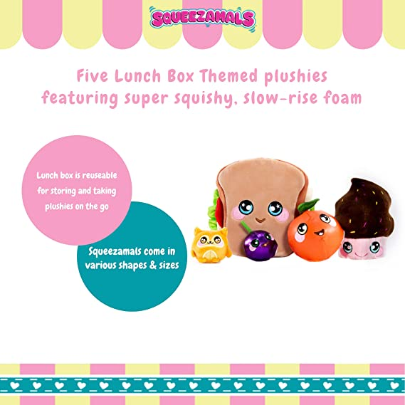 Squeezamals Cherry Gummy Squishy Food Character Toy NEW Picnic Pack Surprise