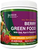 Berry Green Superfood with Goji, Acai & Raspberry, Raw Organic Nutrition- Vegan & Gluten Free - 240 Grams