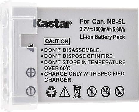 Nueva batería Li-Ion NB-5L NB5L para CANON 3.7V 1120mAh US