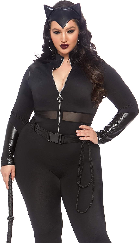Leg Avenue Women's Plus Size 3 Pc Sultry Supervillain Costume